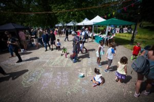 poetry at the Ruskin Park fete